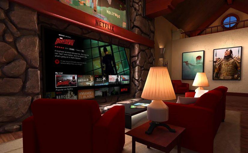 Netflix VR tus Series en un Salón de Realidad Virtual