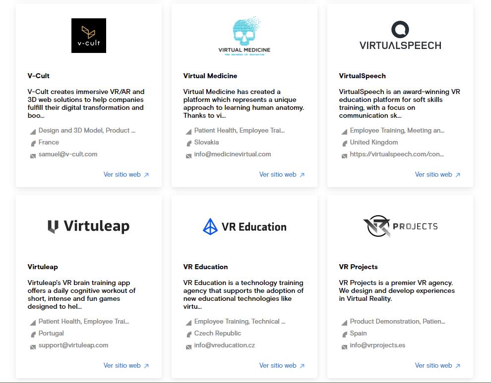 Oculus ISV List